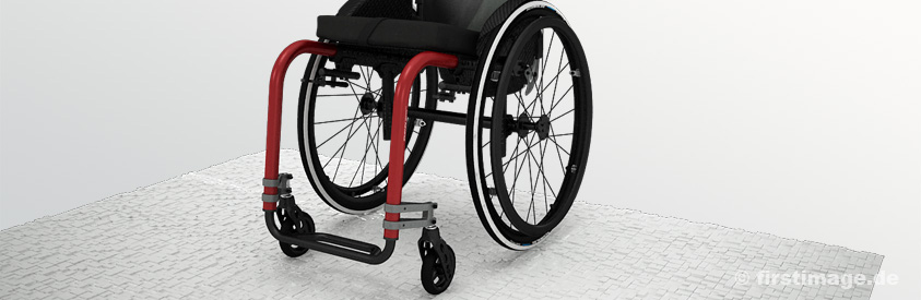 3D Imagefilm des Küschall Advance Wheelchair